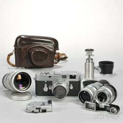 Leica M3 Double Stroke Body and Lenses