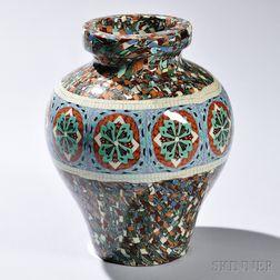 Jean Gerbino (1876-1966) Mosaique Ceramic Vase