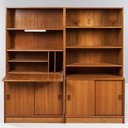 Two Danish Modern Bookcases