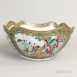 Rose Medallion Porcelain Bowl