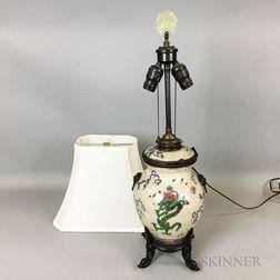Chinese Crackle-glazed Ceramic Jar