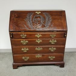 Centennial Colonial Revival Carved Mahogany Slant-lid Desk