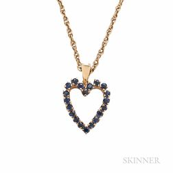 14kt Gold and Sapphire Pendant, Tiffany & Co.