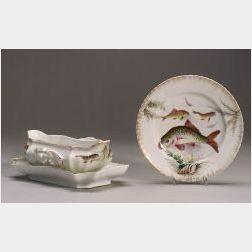 Victoria Porcelain Partial Fish Service