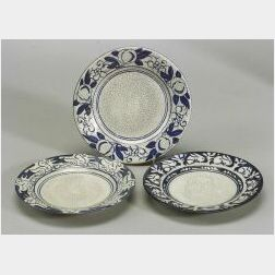 Three Dedham Pottery Bread and Butter Plates