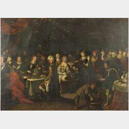 Flemish School, 16th Century Style  An Animated Banqueting Scene