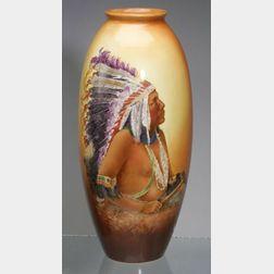 Ceramic Art Company Handpainted Belleek Vase