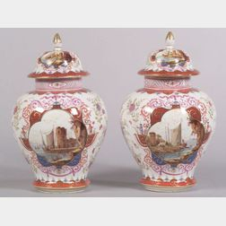 Pair of Samson Porcelain Enamel Decorated Ginger Jars