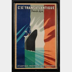Paul Colin (French, 1892-1986)      Cie. Gle. Transatlantique, French Line