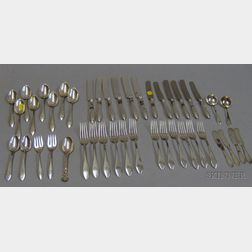 Approximately Forty Pieces of Sterling Silver Flatware