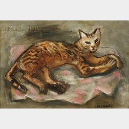John Wesley Carroll  (American, 1892-1959)      Portrait of a Cat