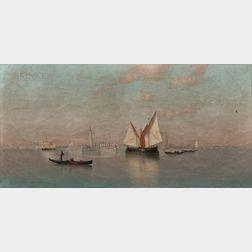 Warren Sheppard (American, 1858-1937)      Along Venetian Waters