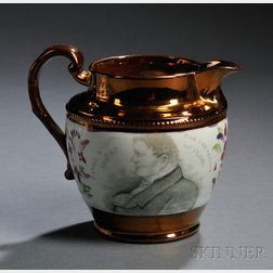 Staffordshire Copper Lustre Daniel O'Connel Jug