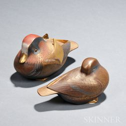 Pair of Ceramic Mandarin Ducks