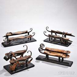 Four Pairs of Early Ice Skates