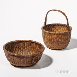 Two Small Nantucket Baskets