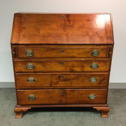 Chippendale Carved Maple Slant-lid Desk