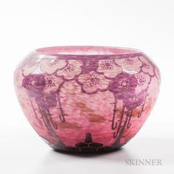 Le Verre Francais Cameo Glass Bowl