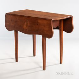 Federal Cherry Serpentine Drop-leaf Table