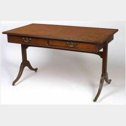 Late Regency Mahogany Writing Table