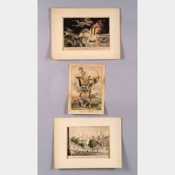 Nathaniel Currier, publisher (American, 1813-1888)  Lot of Three Hand-colored Lithographs: