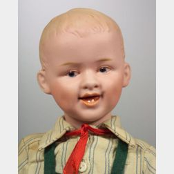 Gebruder Heubach Bisque Head Laughing Character Boy