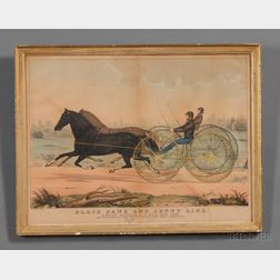 Nathaniel Currier, publisher (American, 1813-1888)      Black Hawk and Jenny Lind.  Union Course, L.I. Nov. 17, 1847.