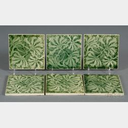 Six Decorated Tiles, Trent Tile Company