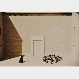 Eight Dance and Ballet Photographs:, Including Willard van Dyke (American, 1906-1986), Performance by the Hanya Holm School of Dance,,