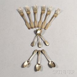 Twelve Sterling Silver Spoons and Forks