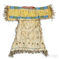 Southern Cheyenne Beaded Hide Child's Dress