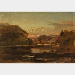 Samuel Lancaster Gerry (American, 1813-1891)      Mountain Landscape with Foreground Lake