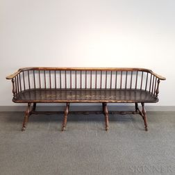 Wallace Nutting Turned and Painted Windsor Bench