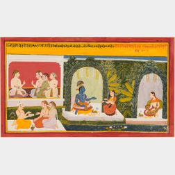 Painting of a Scene from a Gita Govinda