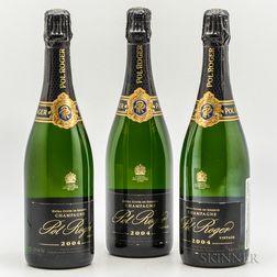 Pol Roger Extra Cuvee de Reserve 2004, 3 bottles