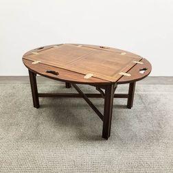 Georgian-style Mahogany Butler's Tray Table.     Estimate $100-150