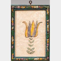 Framed Watercolor Tulip