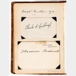 Leather Bound Autograph Album