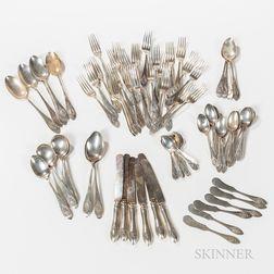 Rogers, Lunt & Bowlen Sterling Silver Flatware Service
