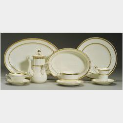 Minton Bone China Gold Banded Partial Dinner Service