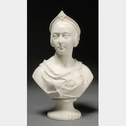 Kerr Worcester Parian Bust of Queen Victoria