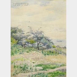 J. Ambrose Prichard (American, 1858-1905)      Coastal View of Duxbury