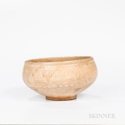 White Slip-inlaid Buncheong Bowl