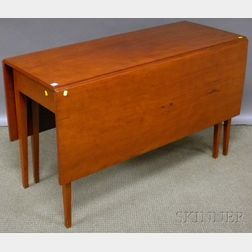 Federal-style Cherry Deep Drop-leaf Dining Table