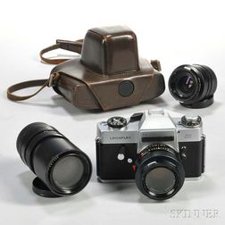 Leicaflex SL Camera Body and Three Lenses