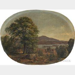 Samuel Lancaster Gerry (American, 1813-1891)      White Mountain Landscape