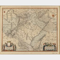 Zaragoza (Province) Joan Blaeu (1596-1673) Arcobispado de Caragossa; Archiepiscopatus Caesaraugustanus.