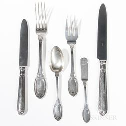 "Thirty-five Pieces of Buccellati ""Empire"" Pattern Sterling Silver Flatware"