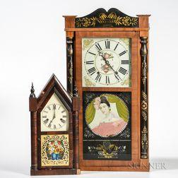 Two Thirty-hour Shelf Clocks