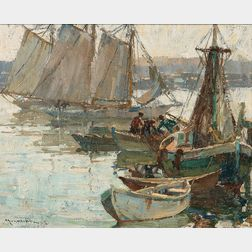 Frederick Mulhaupt (American, 1871-1938)      Morning, Gloucester Harbor
